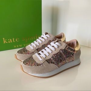NWB Kate Spade Felicia Lace Up Sneakers